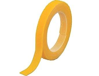TRUSCO マジックバンド結束テープ 両面 黄 10mm×1.5m