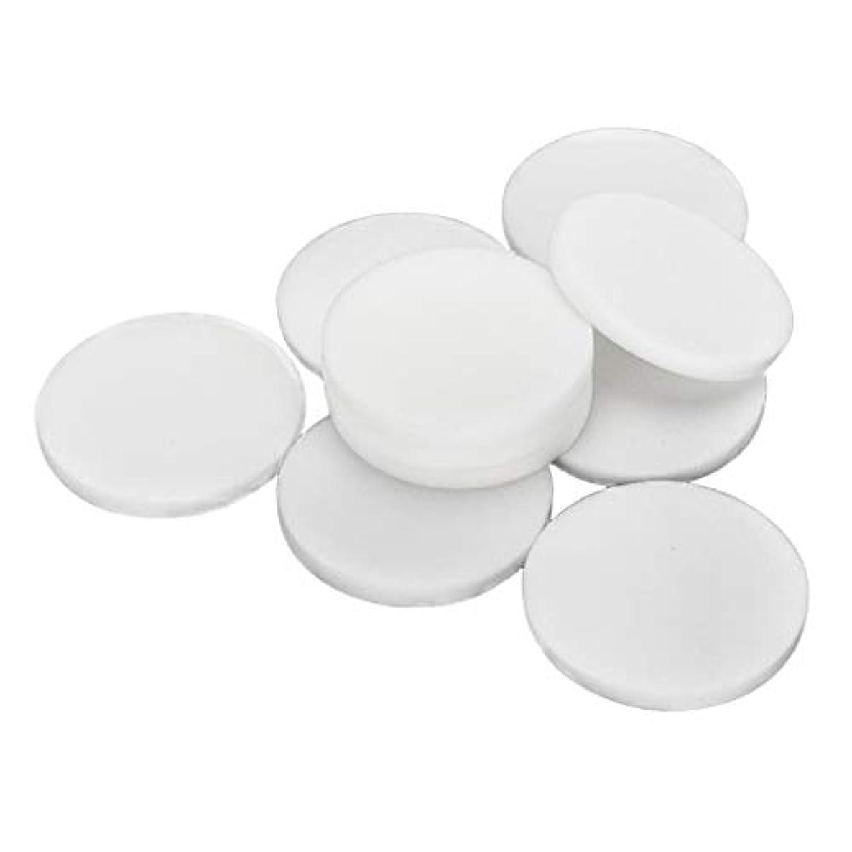 小間チチカカ湖ステップF Fityle 10枚 使い捨て フェイスクリーニングパフ 洗顔 化粧 メイクアップパフ 2サイズ選べ - 大