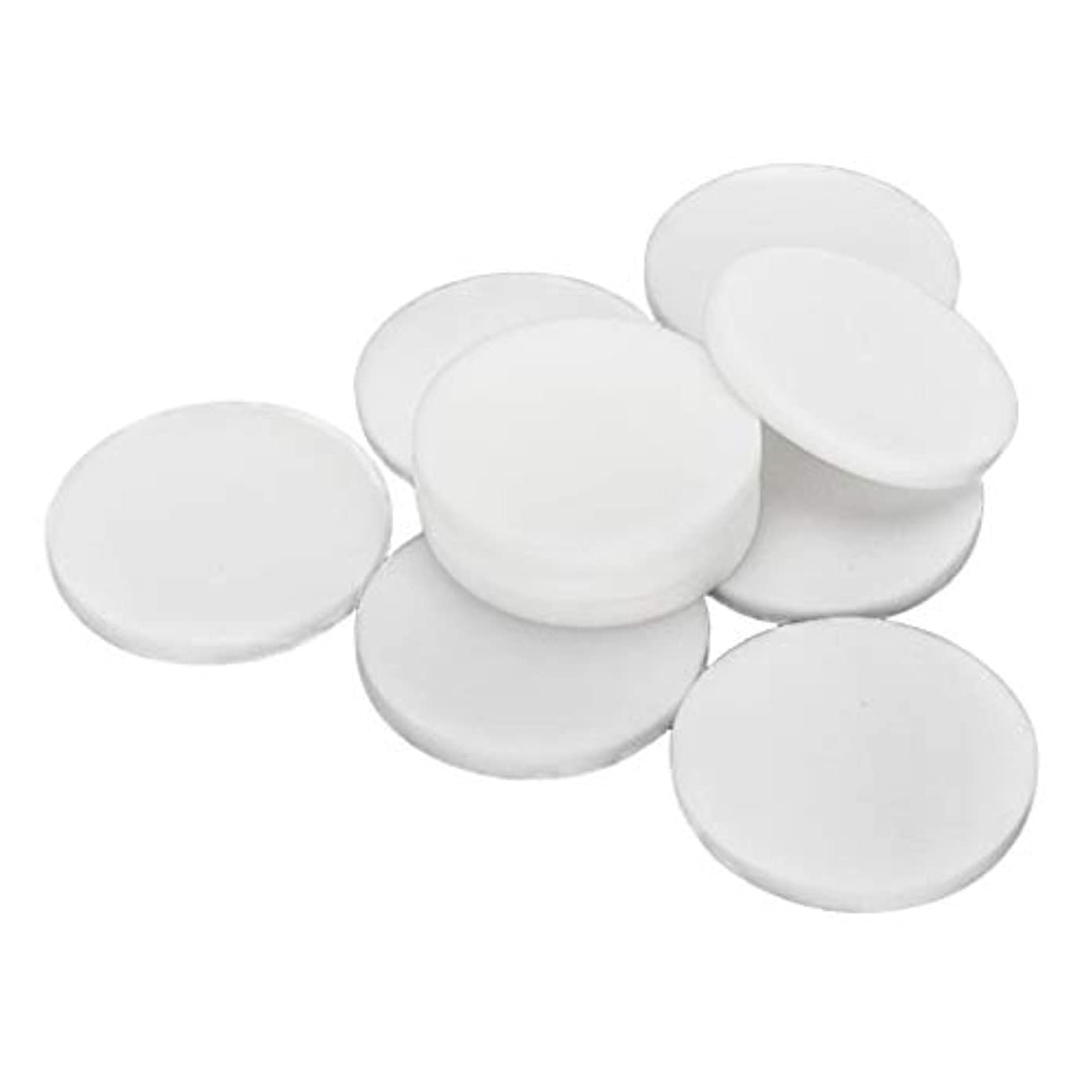 F Fityle 10枚 使い捨て フェイスクリーニングパフ 洗顔 化粧 メイクアップパフ 2サイズ選べ - 大