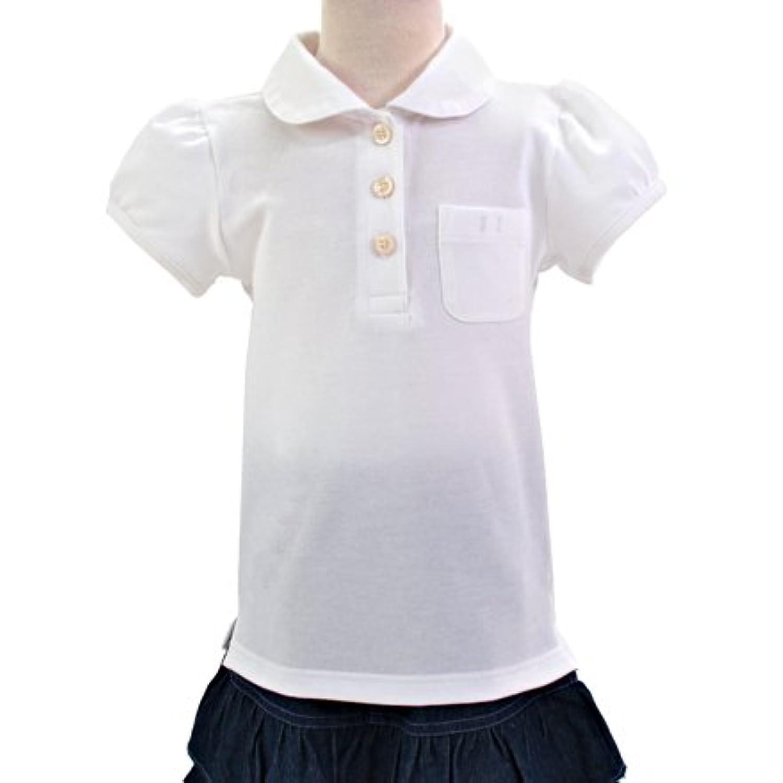 ポロシャツ?刺繍ナシ?女 半袖 日本製 (女の子) 120サイズ ホワイト 刺繍ナシ N1501920