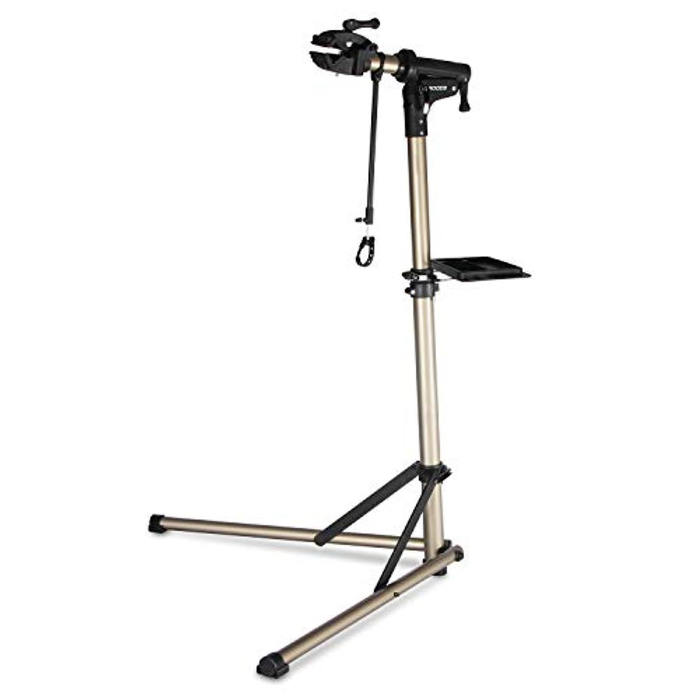 空旅ビルマROCES 自転車 メンテナンススタンド 安定感抜群 高さ調節 角度調節 ワークスタンド 折りたたみ式 工具トレー付 軽量 コンパクト 収納、持ち運びに便利