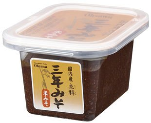 国内産立科三年みそ(米)300g ※2個セット ※国内産米・大豆使用 もろみのような味わい(OS6067x2)