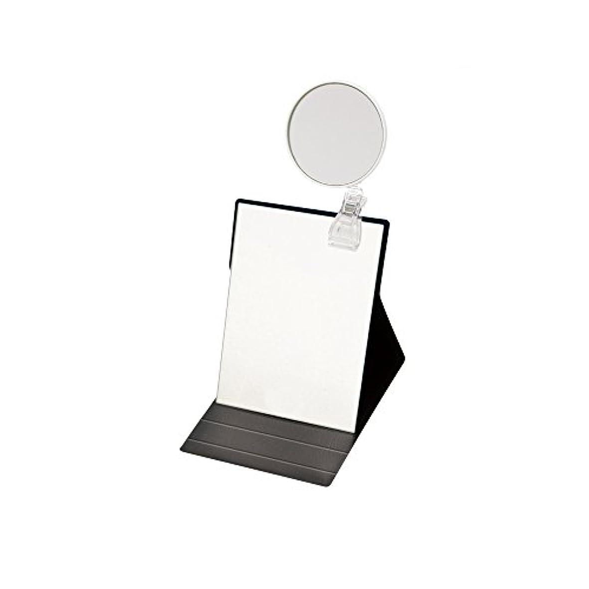 宗教的な厚いかかわらずナピュアミラー 3倍拡大鏡付きプロモデル折立ナピュアミラーM ブラック HP-50×3