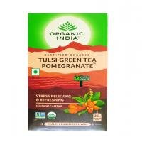 海外直送品Organic India Organic Tulasi Tea Pomegranate Green, Pomegranate Green 18 ct (Pack of 2)