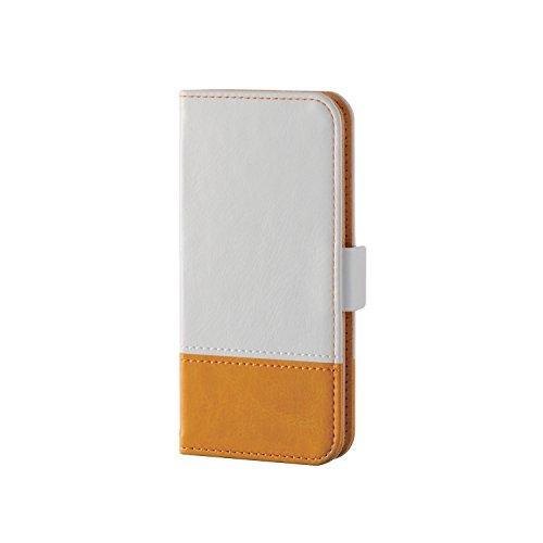 エレコム iPod touch ケース 第6世代 2015年モデル ソフトレザーケース ツートンカラー ホワイト AVA-T16PLFDTWH