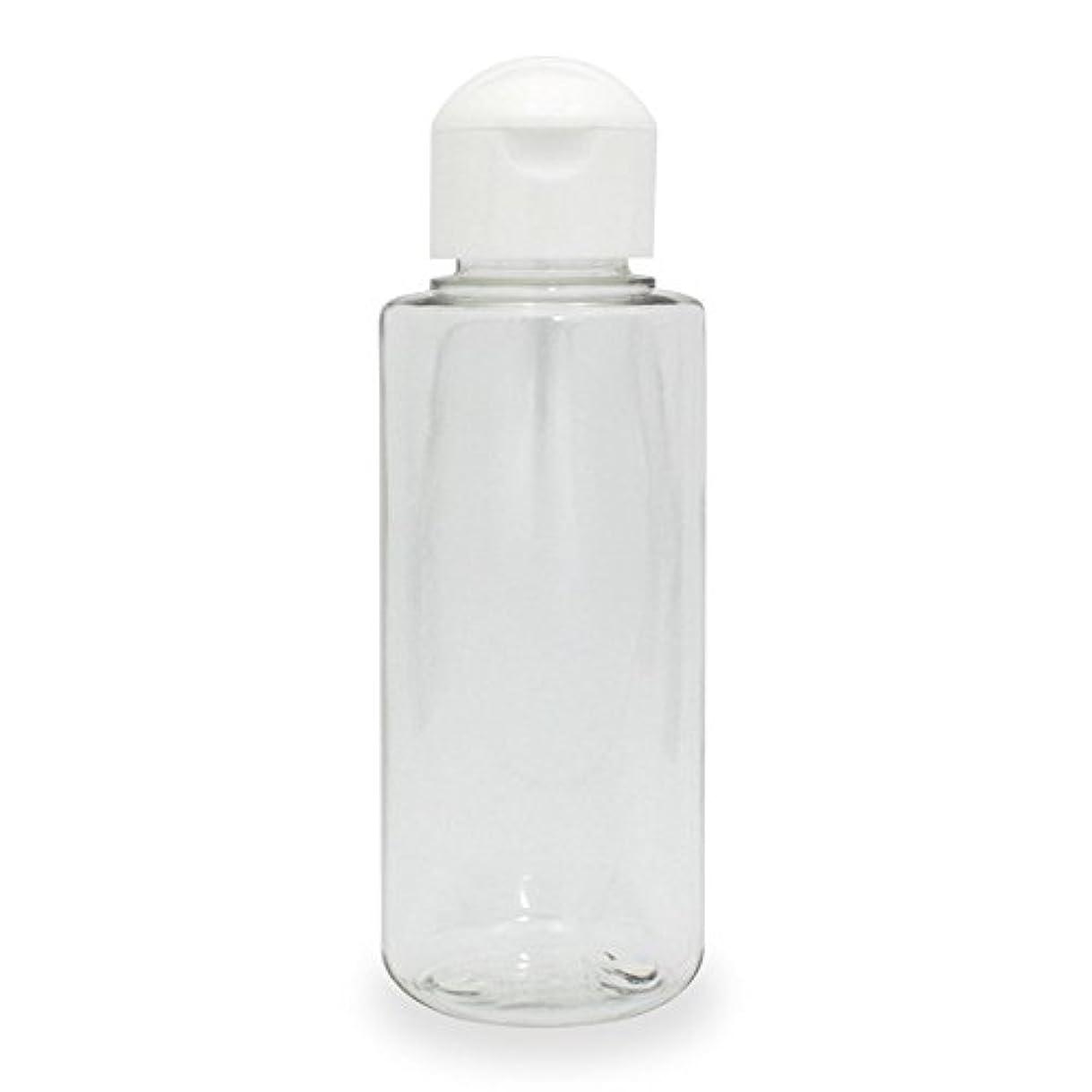 限られた特異な未払いクリアボトル100ml ヒンジキャップ付きで使いやすく持ち運びに便利。(プラスチック容器/オイル用空瓶 プラスチック製-PET)