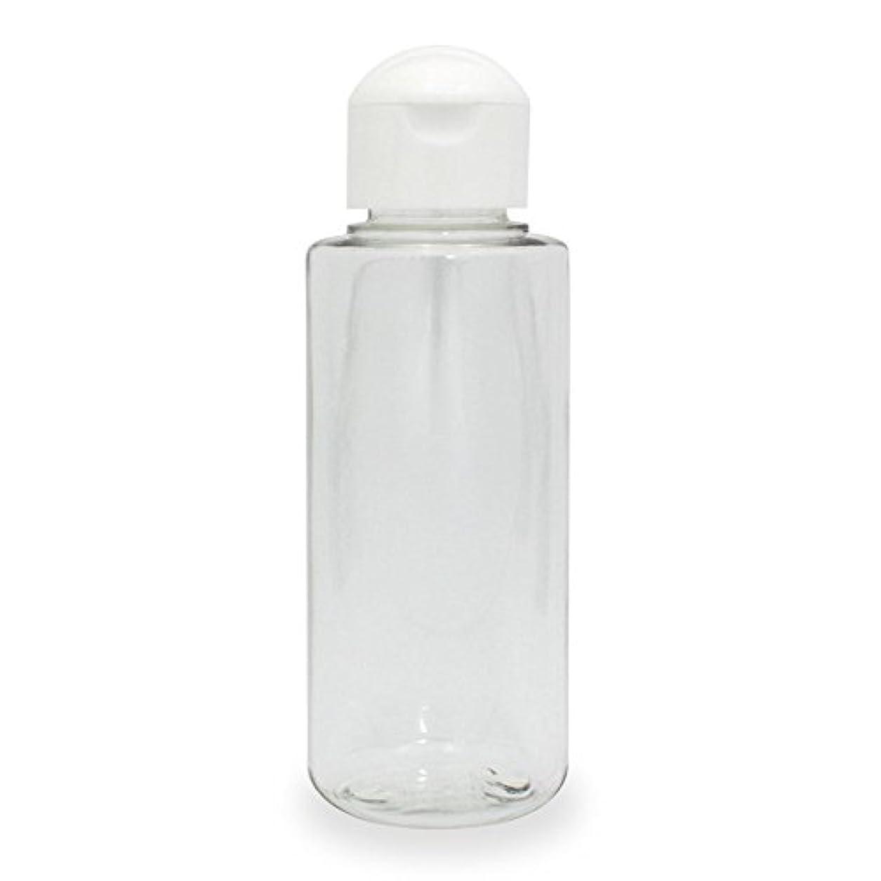 教養がある入手しますロッククリアボトル100ml (ヒンジキャップ) PET プラスチック製