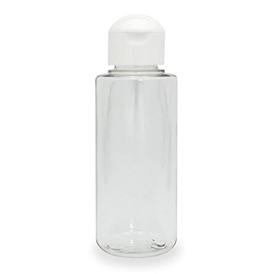 クリアボトル100ml ヒンジキャップ付きで使いやすく持ち運びに便利。(プラスチック容器/オイル用空瓶 プラスチック製-PET)