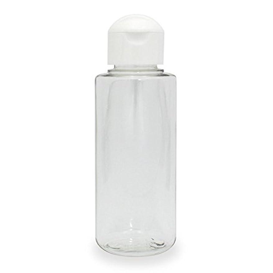 きしむ知的促すクリアボトル100ml (ヒンジキャップ) PET プラスチック製