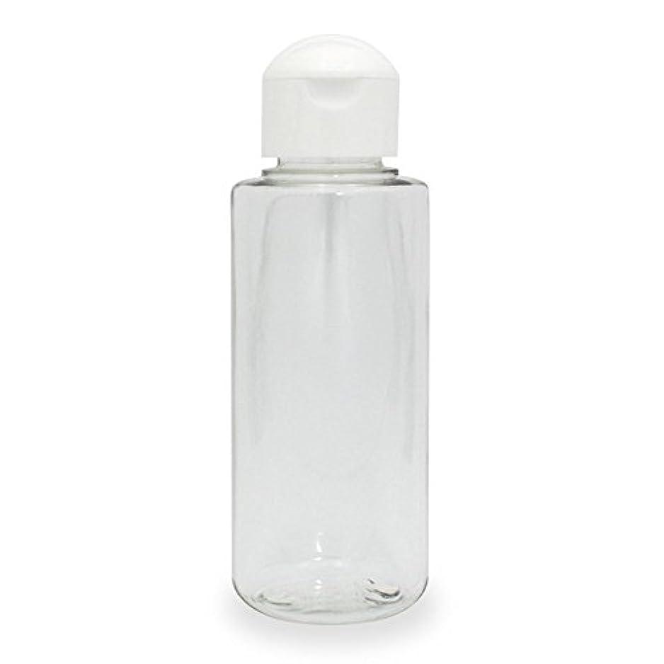 切り刻むメイトディンカルビルクリアボトル100ml ヒンジキャップ付きで使いやすく持ち運びに便利。(プラスチック容器/オイル用空瓶 プラスチック製-PET)