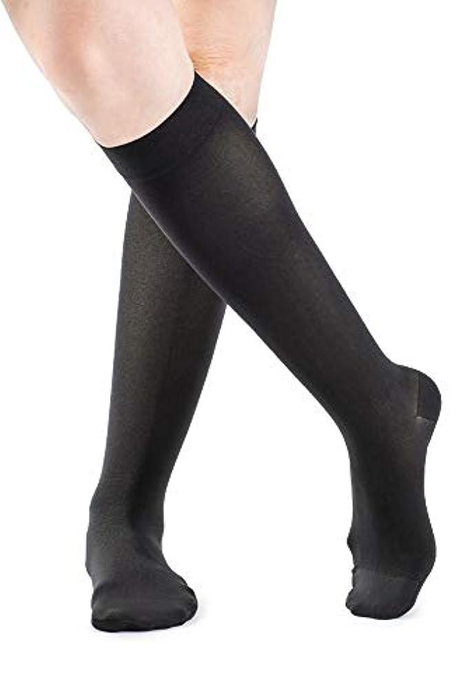 鎖怠な戦略Sigvaris 842C Soft Opaque 20-30 mmHg Closed Toe Knee Highs Color: Black 99, Size: Medium Long (ML) by Sigvaris