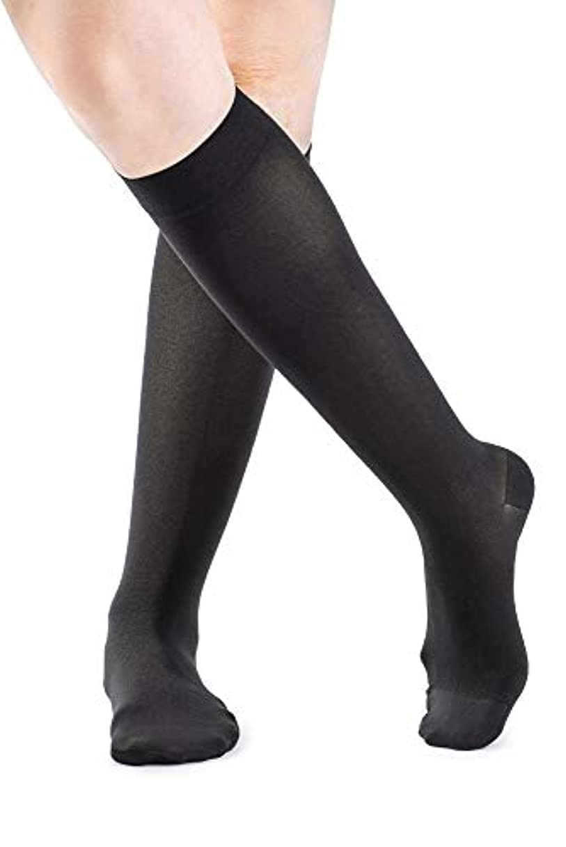 練る習字水分Sigvaris 841C Soft Opaque 15-20 mmHg Closed Toe Knee Highs Color: Black 99, Size: Medium Long (ML) by Sigvaris