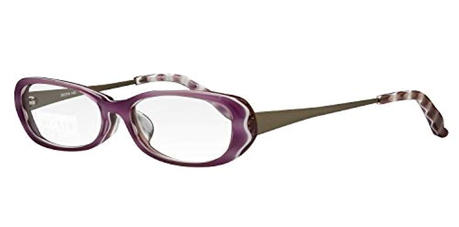 ホールドオール助けになる農学鯖江ワークス(SABAE WORKS) 老眼鏡 ブルーカット おしゃれ パープル NT513C2 +2.00