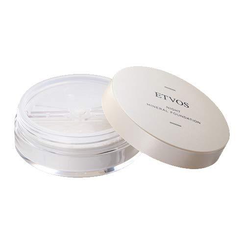 ETVOS(エトヴォス) 夜用化粧下地 ナイトミネラルファンデーション 5g フェイスパウダー 兼用 ツヤ肌 皮脂吸着 崩れ防止