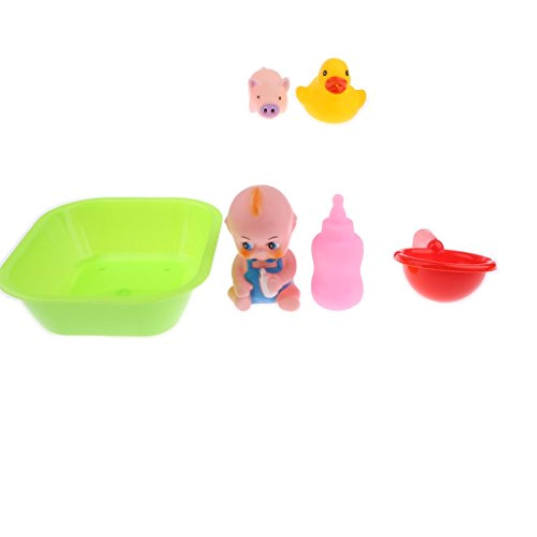 Baoblaze 子ども ふり遊びゲーム 役割 おもちゃ ベビーバスセット 水
