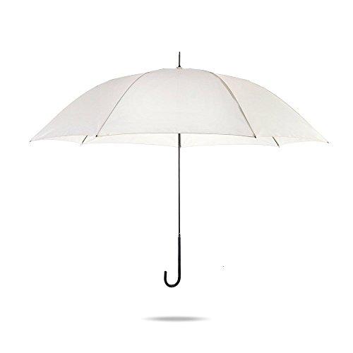 Obolts 長傘 高級傘 炭素繊維製長傘 大型 Teflon加工 高強度グラスファイバー 晴雨兼用 270T超撥水 紳士傘 127センチ オフホワイト