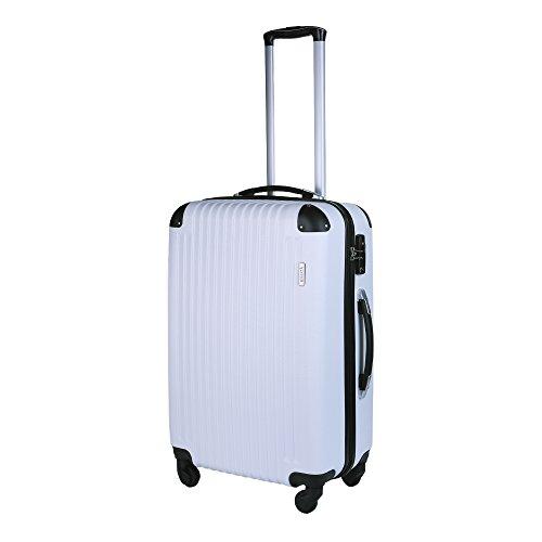 (リベルタ) スーツケース キャリーバッグ キャリーケース 軽量モデル ABS TSAロック搭載 ハードタイプ 無料預入受託サイズ 耐荷重18kg ホワイト Mサイズ