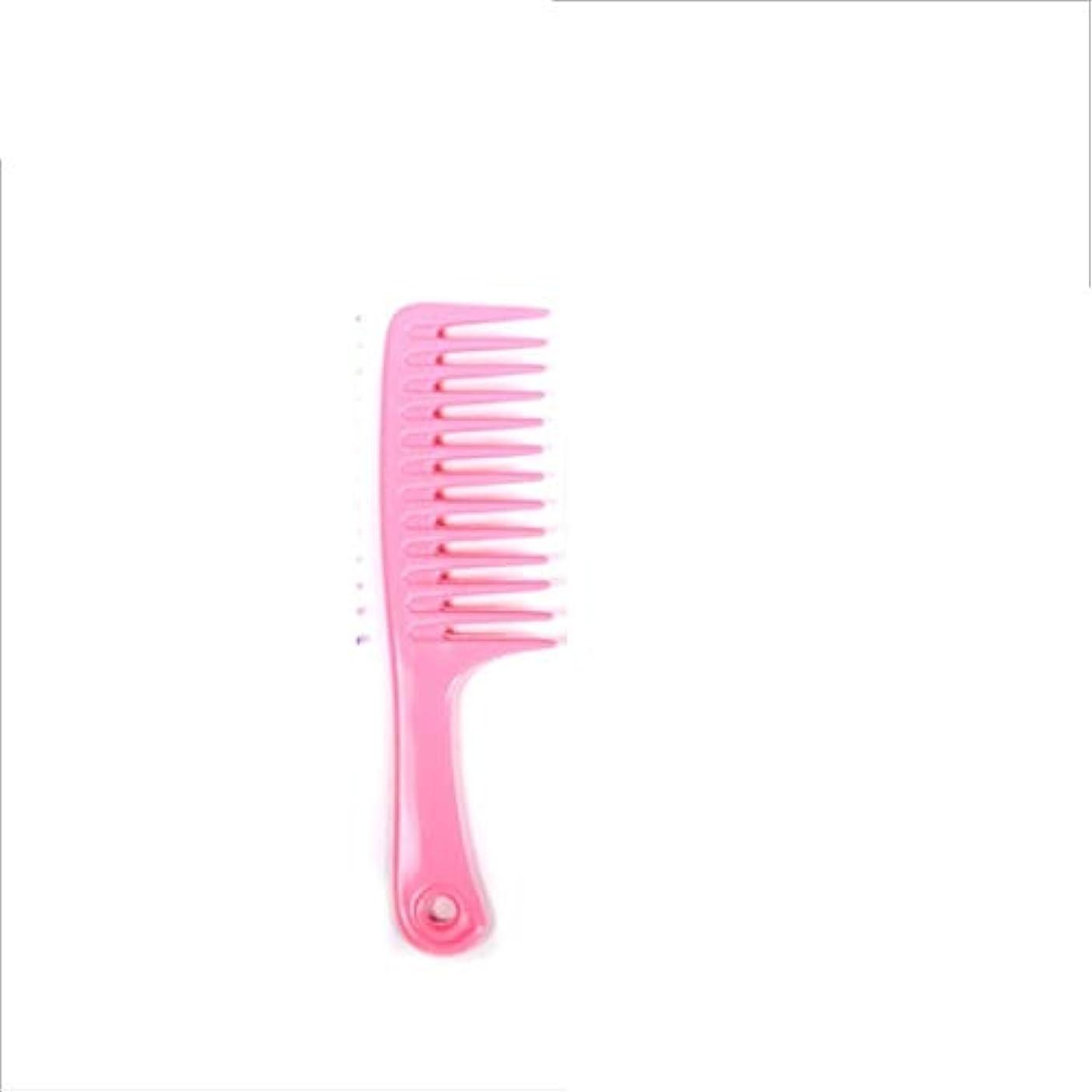 ファシズム懺悔情熱Guomao 24.5cmの静電気防止のもつれの櫛-大きい歯付きゴムの櫛 (色 : ピンク)