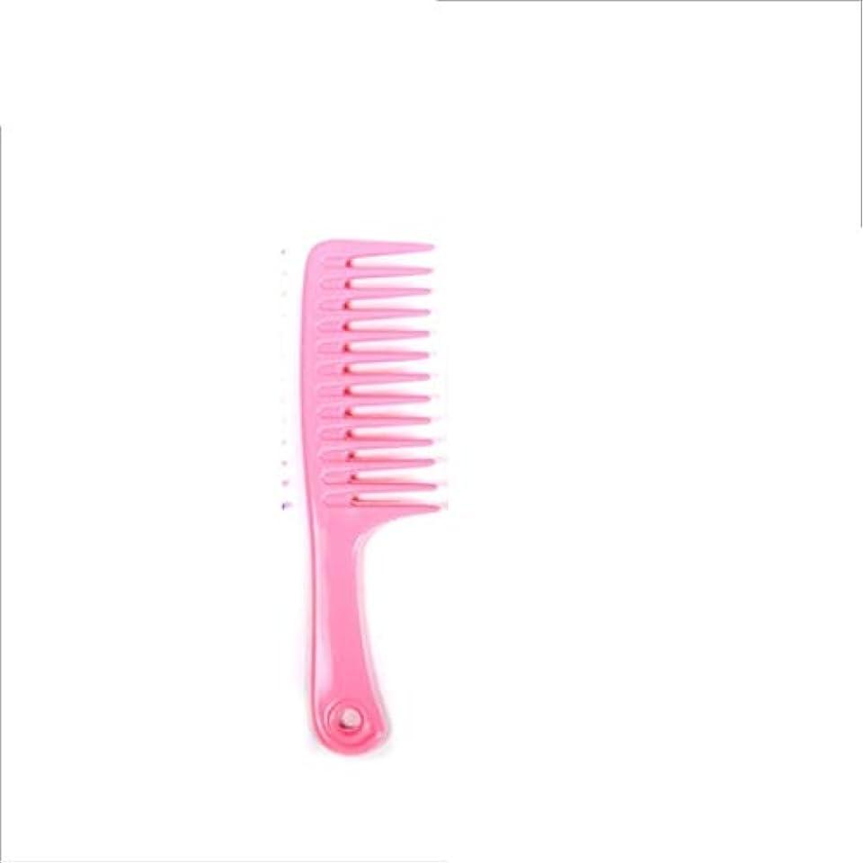 尾鋼バスルームGuomao 24.5cmの静電気防止のもつれの櫛-大きい歯付きゴムの櫛 (色 : ピンク)