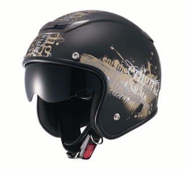ナンカイ(NANKAI) ZEUS エニグマ ジェットヘルメット(インナーバイザー装備) マットブラック/ゴールド フリー? NAZ205MBGD