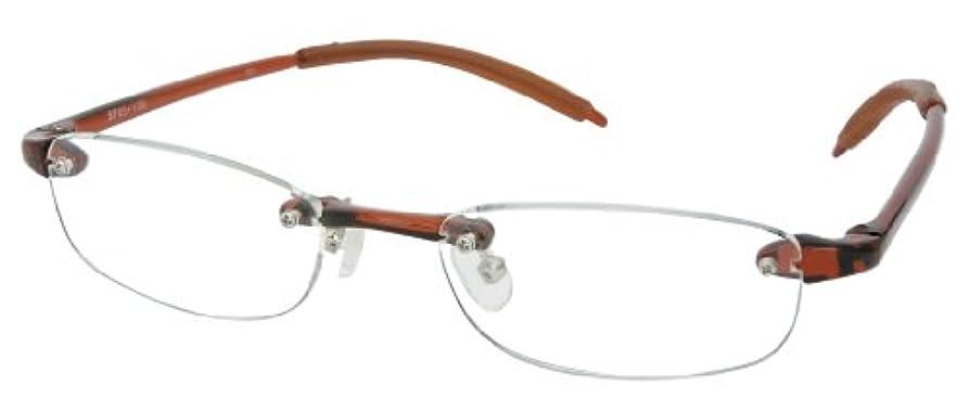 シニアフレックス(SENIOR FLEX) 調弾性リーディンググラス メンズ +1.00 SF05 【老眼鏡】