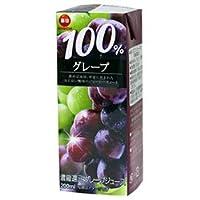 毎日牛乳 毎日 100%グレープ 200ml紙パック×24本入×(2ケース)