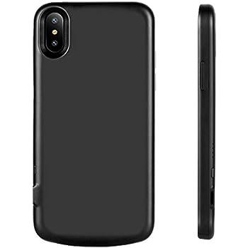 TopACE iPhone X バッテリーケース 軽量極薄 大容量3000mA バッテリ内蔵 ケース兼用モバイルバッテリー 受電カバー バッテリー内蔵ケース アイフォン X 対応(ブラック)