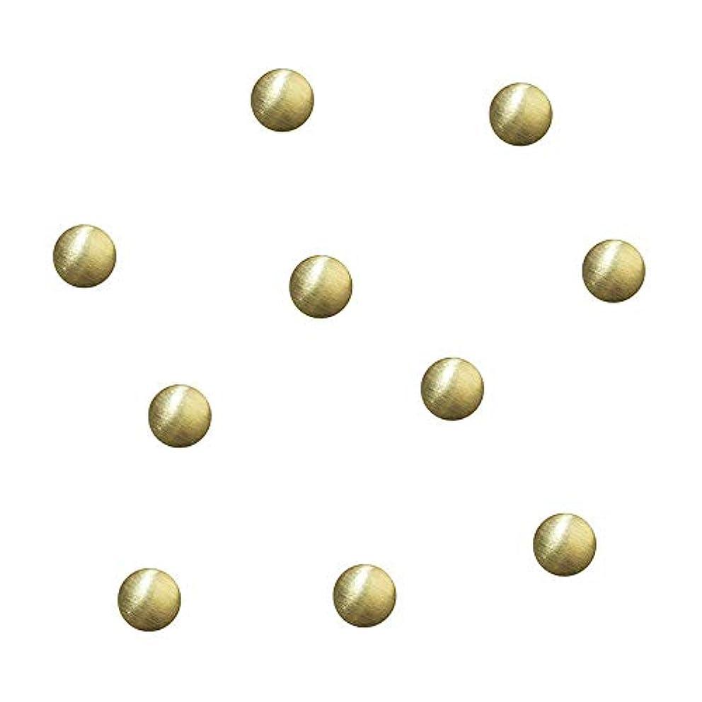 成り立つミシン目ミュウミュウSWAROVSKI メタルゴールド4.0mmツヤ消し 50P