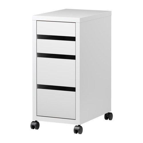 MICKE 引き出しユニット キャスター付き,  ホワイト(IKEA) 702.130.79