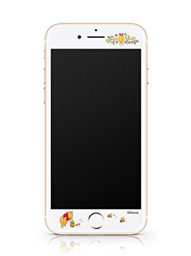 Disney ART TEMPERED GLASS ディズニーアート強化ガラス Winnie the Pooh(くまのプーさん)/アイフォンiPhoneスマホ保護ガラス、硬度9Hキズスクラッチ防止、0.33mm、2.5Dラウンドソフトエッジ、強化ガラスへ直接キャラクター印刷、フルカラー2880dpi印刷、高鮮明、快適パーフェクトタッチ、飛散防止、指紋防止、水はじきコーティング (iPhone 7Plus)