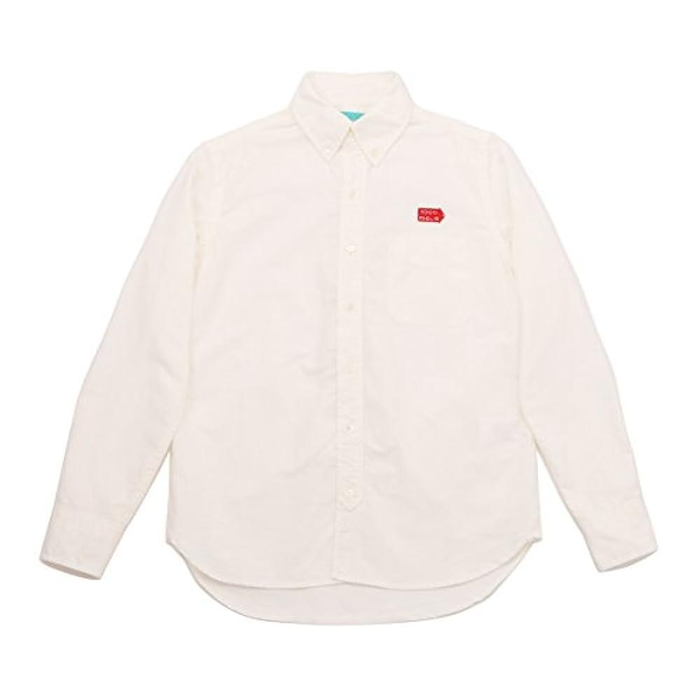 へこみ最小西Mille Miglia(ミッレ ミリア)BD オックスフォードシャツ メンズ ボタンダウン 長袖 ロゴ刺繍 ホワイト XLサイズ
