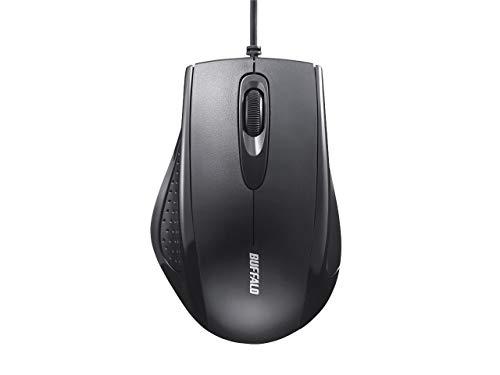 バッファロー 有線 3ボタン IR LED光学式マウス ブラック BSMRU050BK 1台