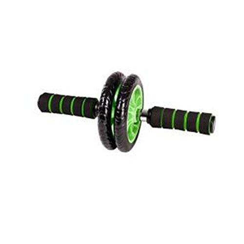 【新品特恵】腹筋ローラー アブホイール スリムトレーナー 超静音 腹筋ローラー エクササイズローラー 膝を保護するマット付き (二輪)