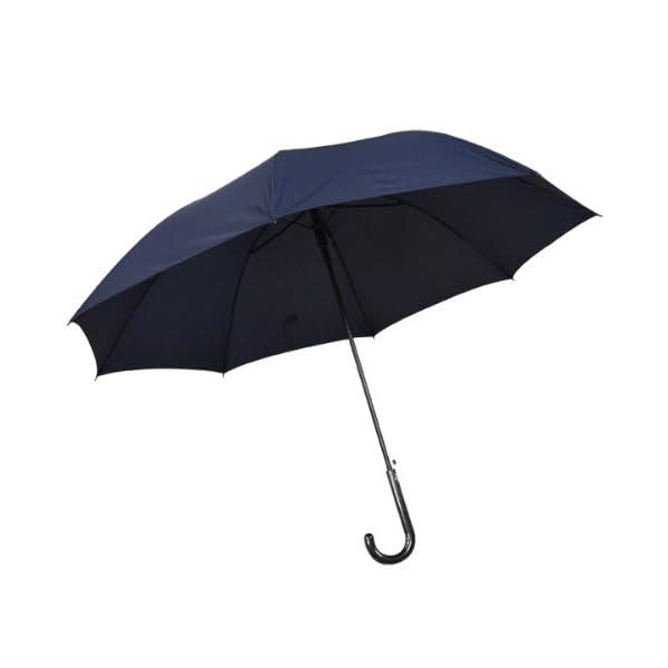 紳士傘 グラスファイバー 長傘 紺 65cmの商品画像
