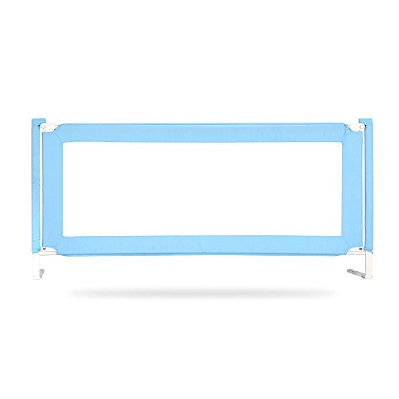 LHA ベッドガード?フェンス ポータブル子供ベッドレール、1.5m、1.8m、1.9m、2.0m (色 : 青, サイズ さいず : L-1.8m)