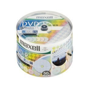 maxell DRD120PMIXC.50SP B CPRM対応録画用DVD-Rデザインプリントレーベル 50枚入