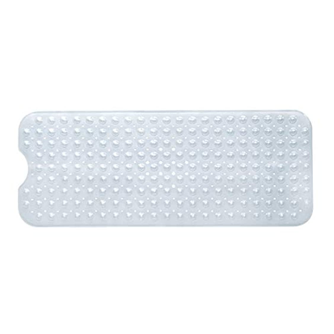 遮る炭水化物クールSwiftgood エクストラロングバスタブマットカビ抵抗性滑り止めバスマット洗濯機用浴室用洗えるPVCシャワーマット15.7