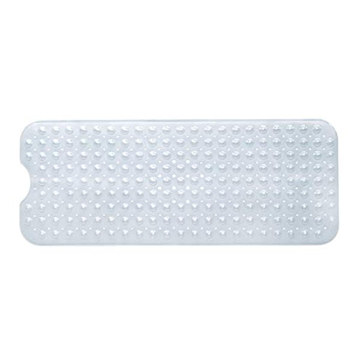 一貫性のないぬるい五月Swiftgood エクストラロングバスタブマットカビ抵抗性滑り止めバスマット洗濯機用浴室用洗えるPVCシャワーマット15.7