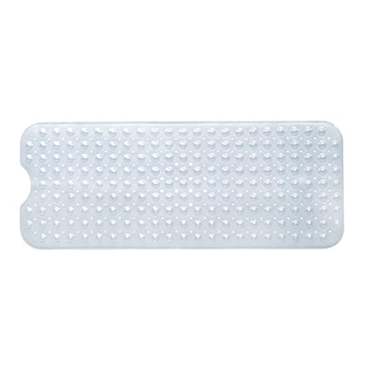 栄光策定する安心させるSwiftgood エクストラロングバスタブマットカビ抵抗性滑り止めバスマット洗濯機用浴室用洗えるPVCシャワーマット15.7