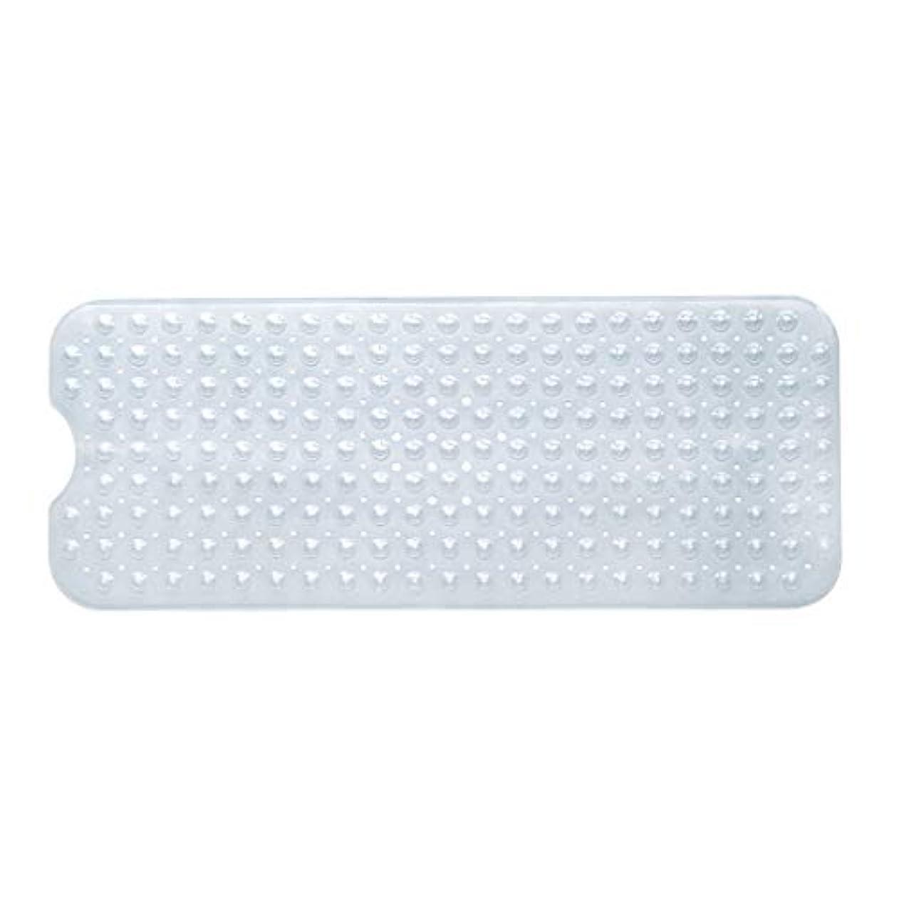 硬い債務常識Swiftgood エクストラロングバスタブマットカビ抵抗性滑り止めバスマット洗濯機用浴室用洗えるPVCシャワーマット15.7