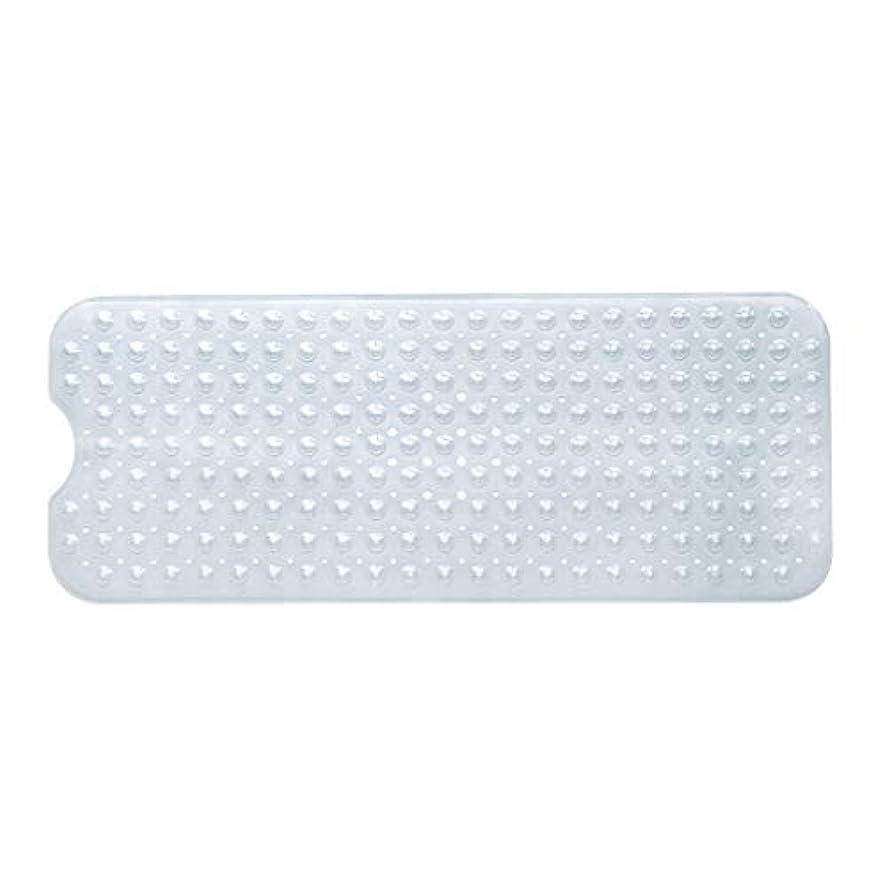 仕える習慣満了Swiftgood エクストラロングバスタブマットカビ抵抗性滑り止めバスマット洗濯機用浴室用洗えるPVCシャワーマット15.7