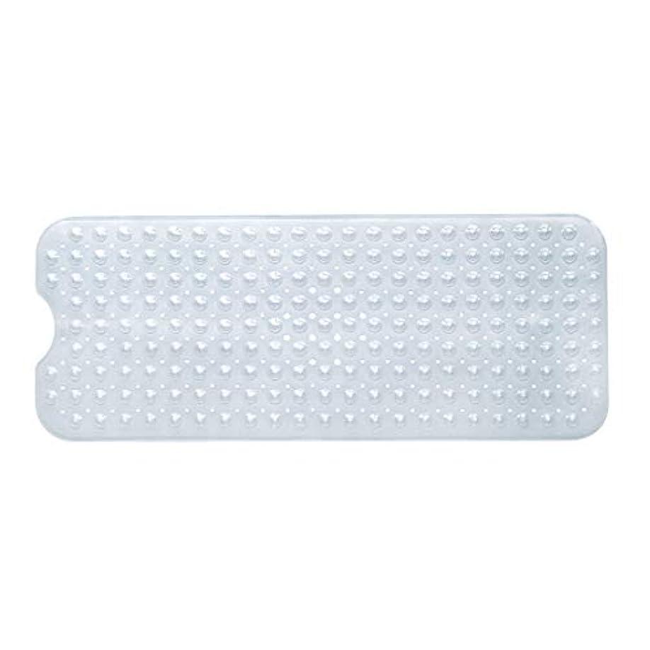 苦いポスト印象派シビックSwiftgood エクストラロングバスタブマットカビ抵抗性滑り止めバスマット洗濯機用浴室用洗えるPVCシャワーマット15.7
