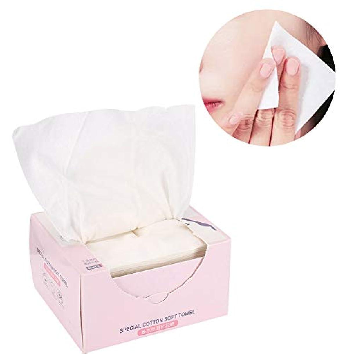 難しい待つ冷酷な80枚入り 節水 綿パッド 柔らかい 滑らか 不織布 メイク落とし コットンパッド 化粧品ツール スキンケア クリーニング