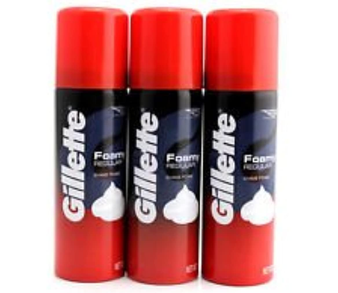 壁こねる器具Gillette Foam Regular 50 G travel pack (pack of 3)