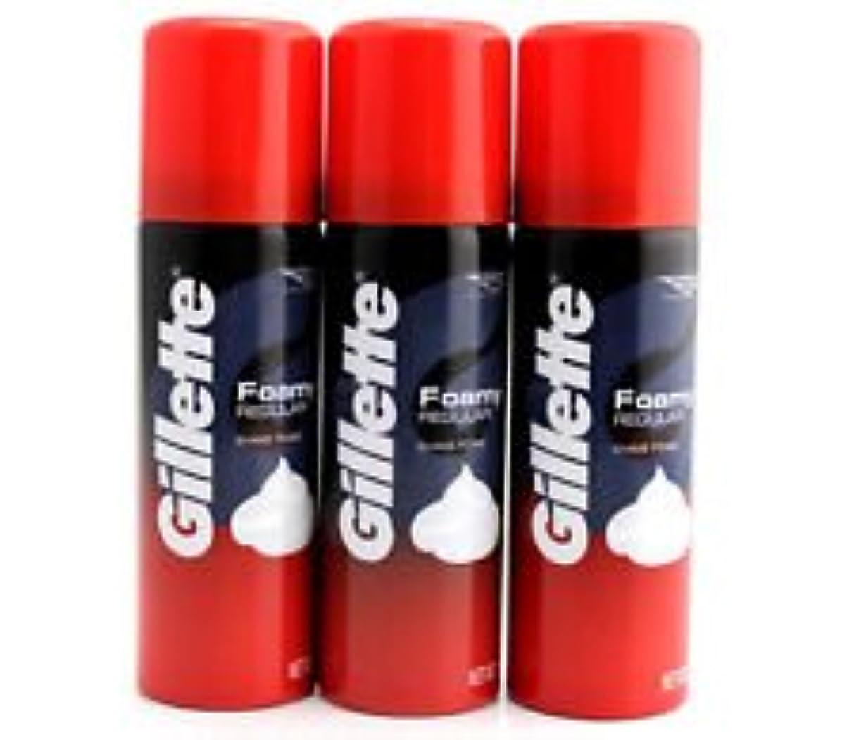 破壊する乏しいカラスGillette Foam Regular 50 G travel pack (pack of 3)