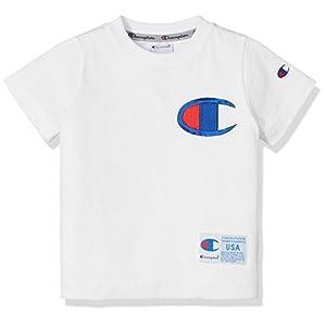 [チャンピオン]ビッグCロゴTシャツ CS4562 ボーイズ ホワイト 日本 130 (日本サイズ130 相当)