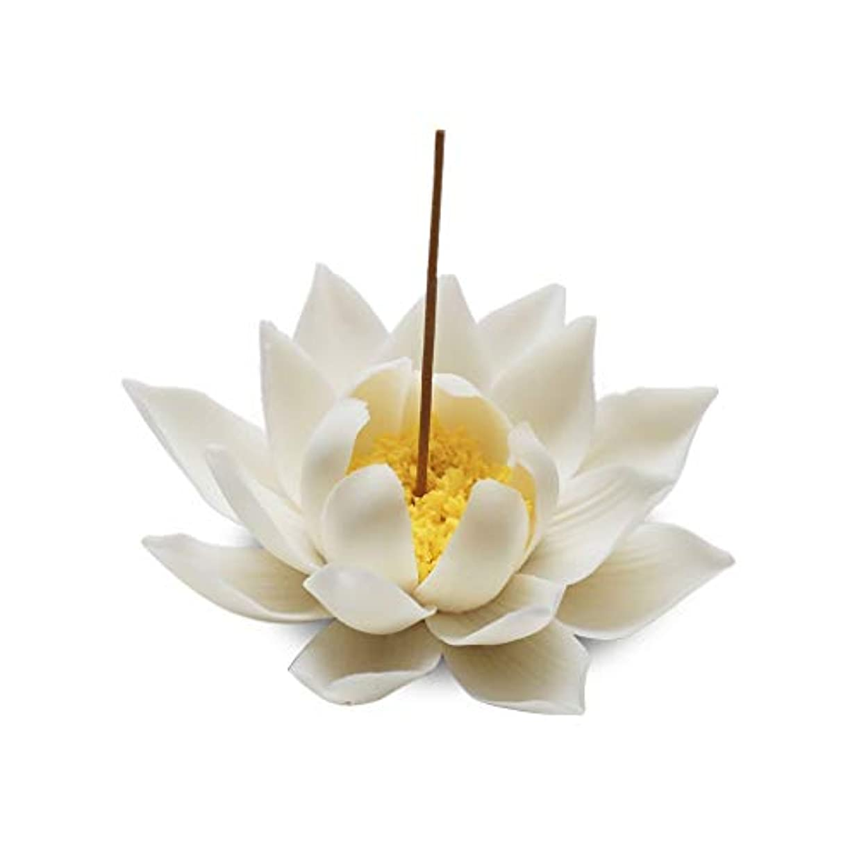 価値のない計算可能低いセラミック蓮香バーナー家の装飾香スティックホルダー仏教アロマセラピー香炉ホームオフィス用 (Color : A)