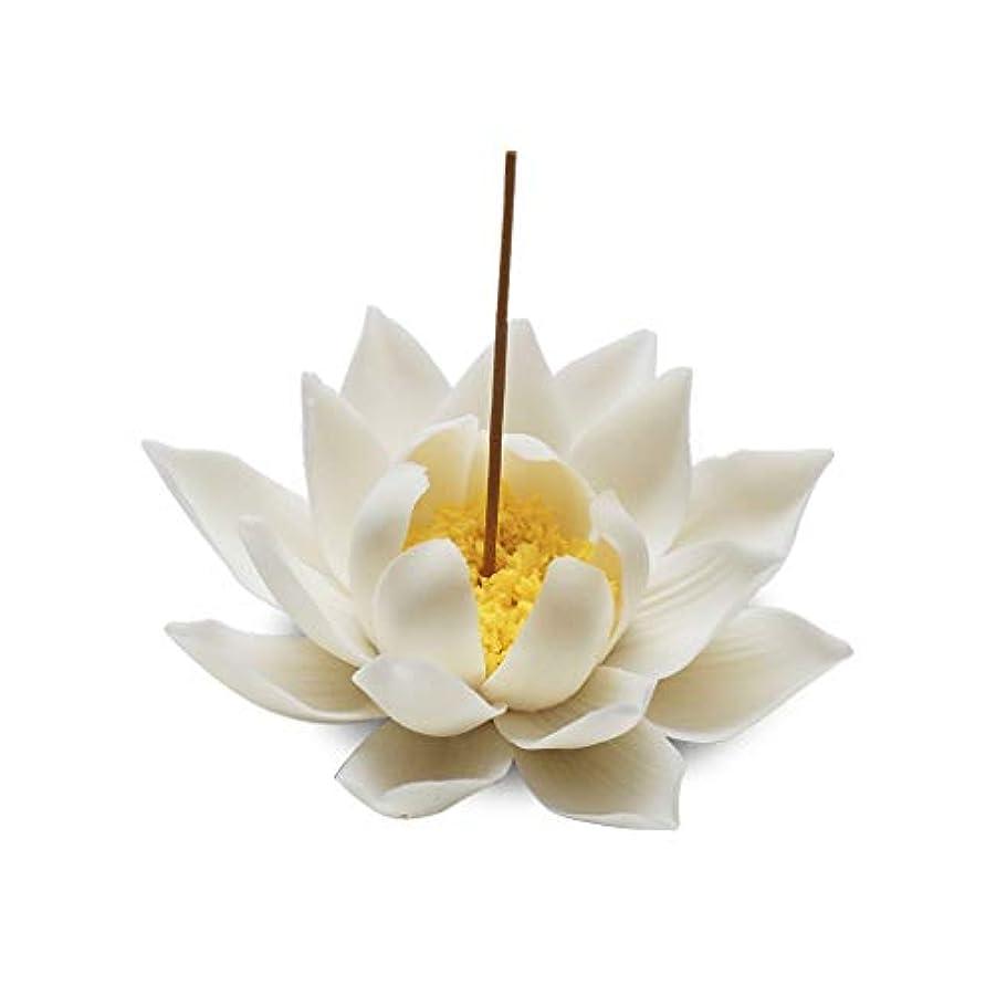 杭ネックレスつまずくセラミック蓮香バーナー家の装飾香スティックホルダー仏教アロマセラピー香炉ホームオフィス用 (Color : A)