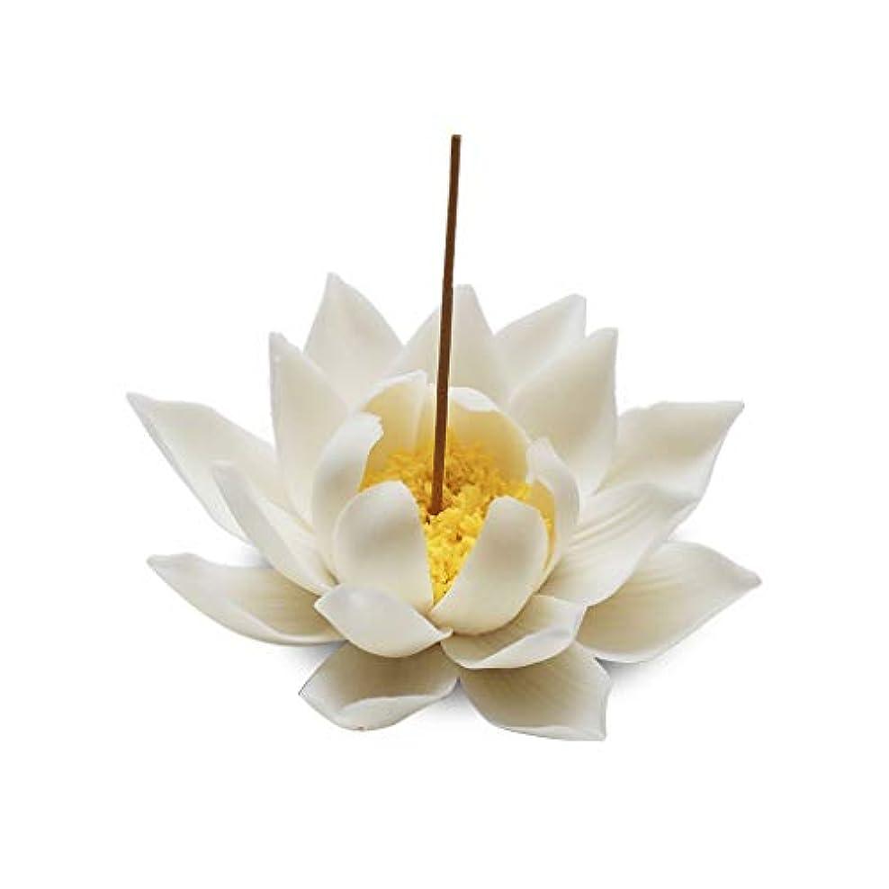 より平らなローラーシダセラミック蓮香バーナー家の装飾香スティックホルダー仏教アロマセラピー香炉ホームオフィス用 (Color : A)