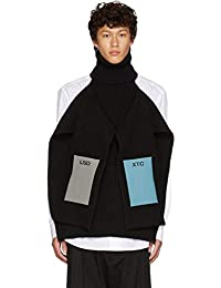 (ラフ シモンズ) Raf Simons メンズ トップス ニット・セーター Black Single Panel Patch Turtleneck [並行輸入品]